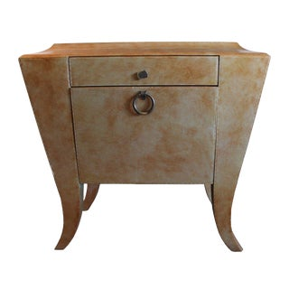 Maitland Smith Mid-Century Modern Chest / Side Foyer Table For Sale