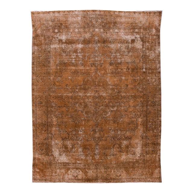 "Apadana - Vintage Overdyed Rug, 12'6"" X 9'4"" For Sale"