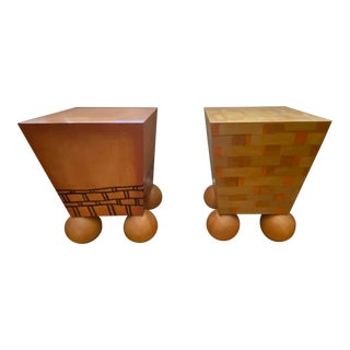 Cheryl R. Riley Hand Made Tables - a Pair For Sale