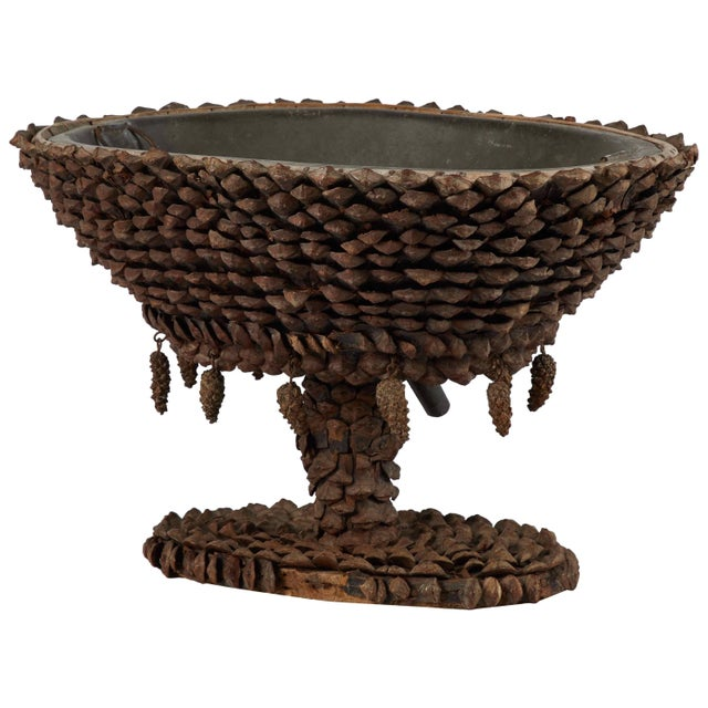 Mid 19th Century Mid-19th Century French Tazza Pine Cones Decorated Wine Cooler For Sale - Image 5 of 5