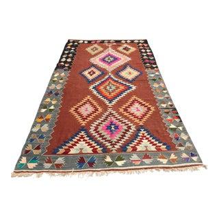 1960s Turkish Kilim Rug For Sale