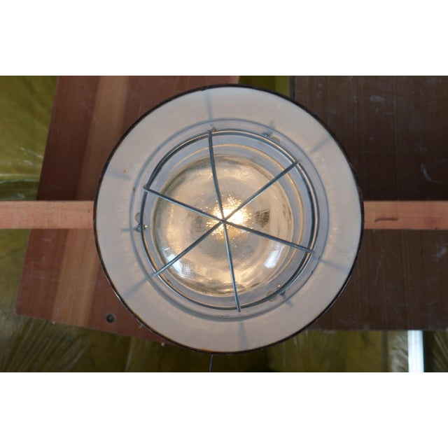 Industrial Industrial vintage factory hanging lamp For Sale - Image 3 of 9