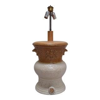 Two Tone Salt Glazed Spirit Barrel Lamp For Sale