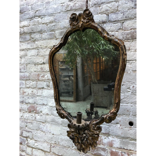 Gold Leaf North Italy, C. 1730 , Pair of Mirrors For Sale - Image 7 of 13