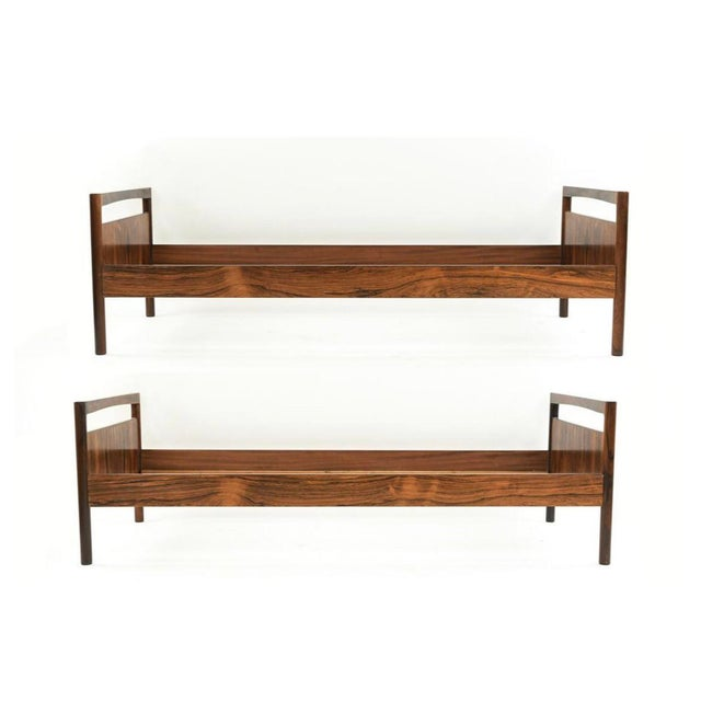 Mid-Century Danish Modern Rosewood Twin Size Bed Frame - A Pair For Sale - Image 13 of 13