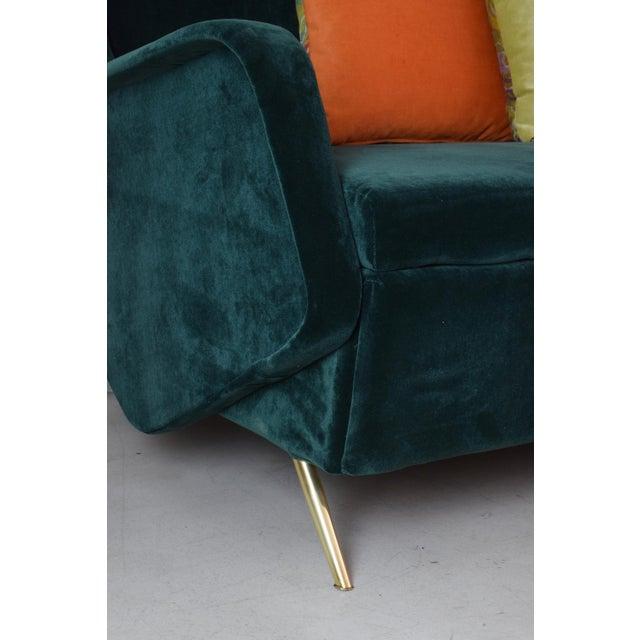 Metal Italian Vintage Midcentury Sofa, 1950s For Sale - Image 7 of 12