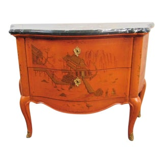 E J Victor French Style Marbletop Bombe Commode For Sale
