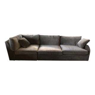 Arhaus Contemporary Greige Sofa For Sale