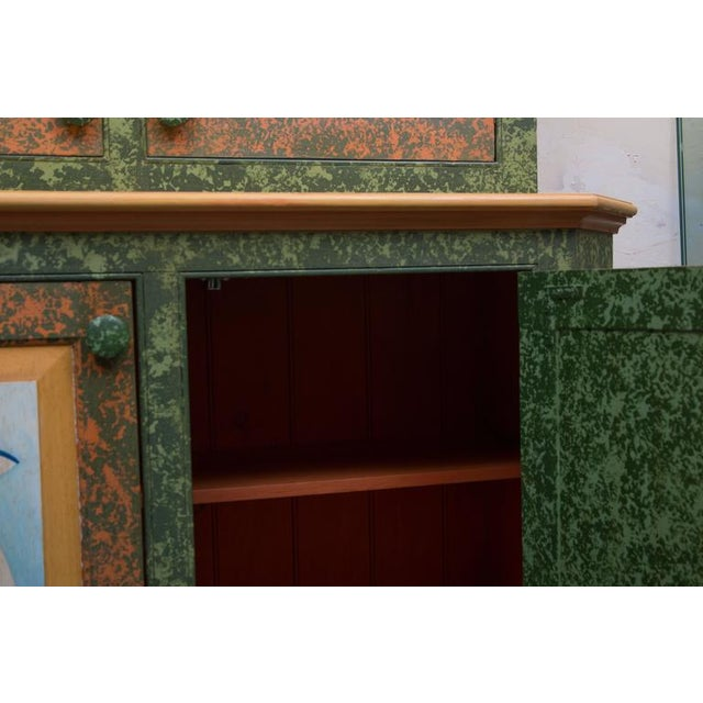 Whimsical Hand-Painted Solarium or Garden Room Cabinet - Image 4 of 10