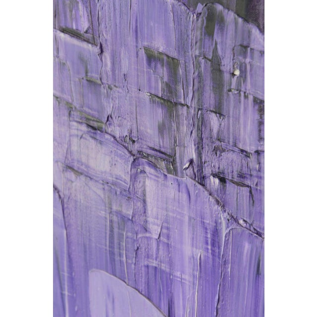 Purple Renato Freitas Original Oil on Canvas, 2013 For Sale - Image 8 of 8
