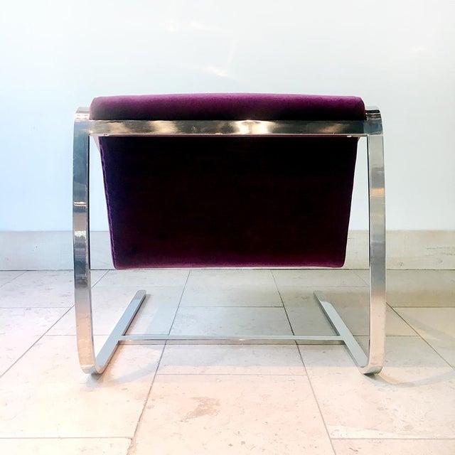 Brueton Single Original Plaza Velvet Upholstered Lounge Chair by Brueton 1970s For Sale - Image 4 of 7
