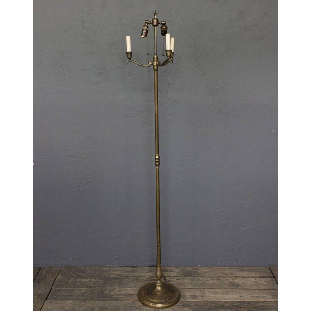 Gold 1940s French Brass Floor Lamp For Sale - Image 8 of 10