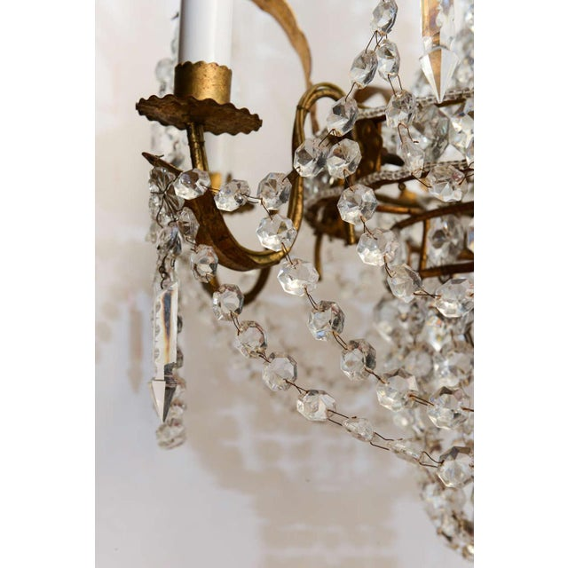 Empire Form Crystal Chandelier For Sale - Image 10 of 10
