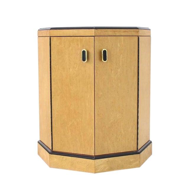 Birds Eye Maple Side Table Pedestal For Sale