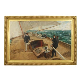 """On the Britannia"" Oil Painting by Tom Henry For Sale"