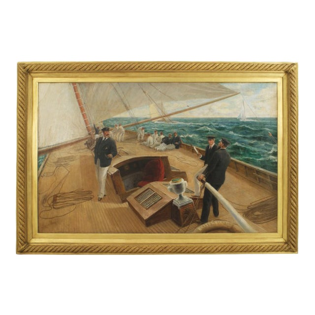 """""""On the Britannia"""" Oil Painting by Tom Henry For Sale"""