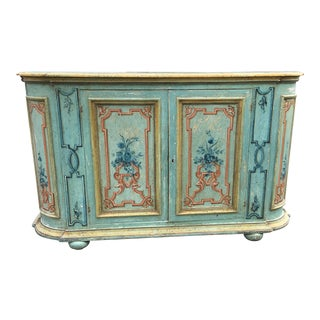 1930s Early 20th Century Carved and Painted Italian Buffet For Sale