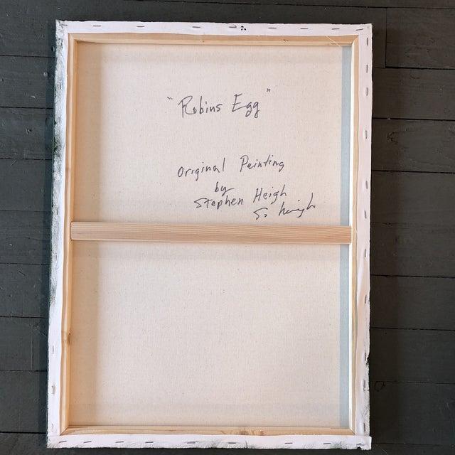 2010s Philadelphia Illustrator Stephen Heigh OriginalRobin's Egg Painting For Sale - Image 5 of 6