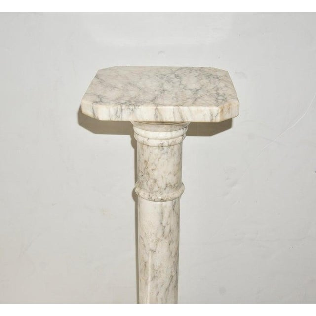 This stylish and classic marble pedestal will make the perfect piece to display a piece of sculpture or perhaps a...