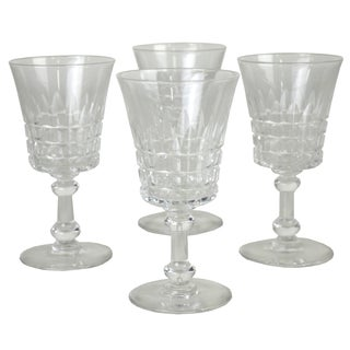 Vintage Cut Glass Cordials - Set of 4 For Sale