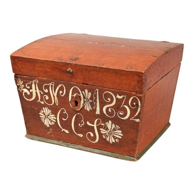 Antique Upsala Swedish Marriage Trunk / Box - Image 1 of 7