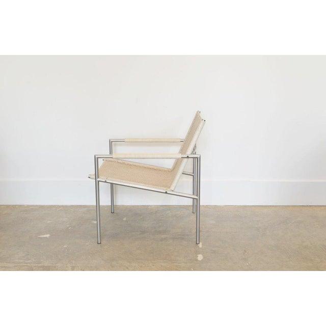 Mid-Century Modern Martin Visser Easy Chair, White Woven Rattan 1960 For Sale - Image 3 of 4