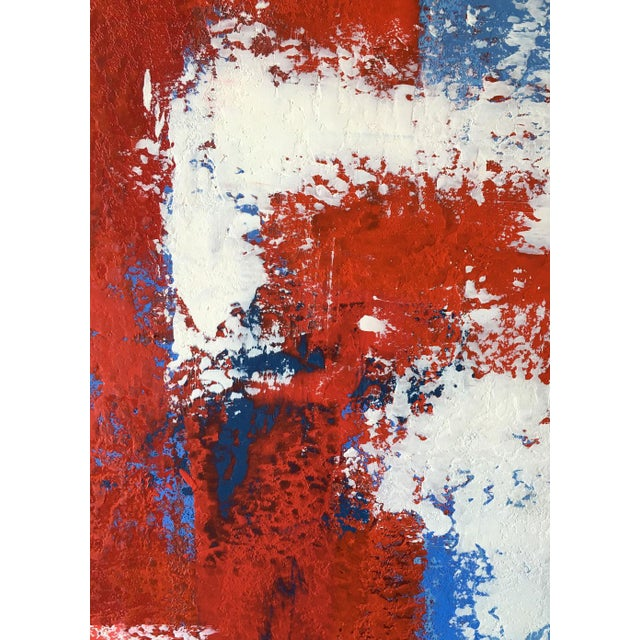 Modern Mario Sergio Lopomo Vintage Abstract Painting For Sale - Image 3 of 10
