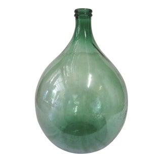 Large Eastern European Glass Demijohn For Sale