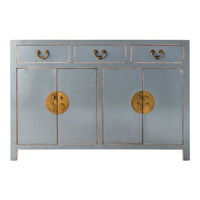Ming Gray Buffet Table For Sale