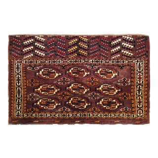 "Vintage Turkoman Wool Rug - 2'6″x3'11"" For Sale"