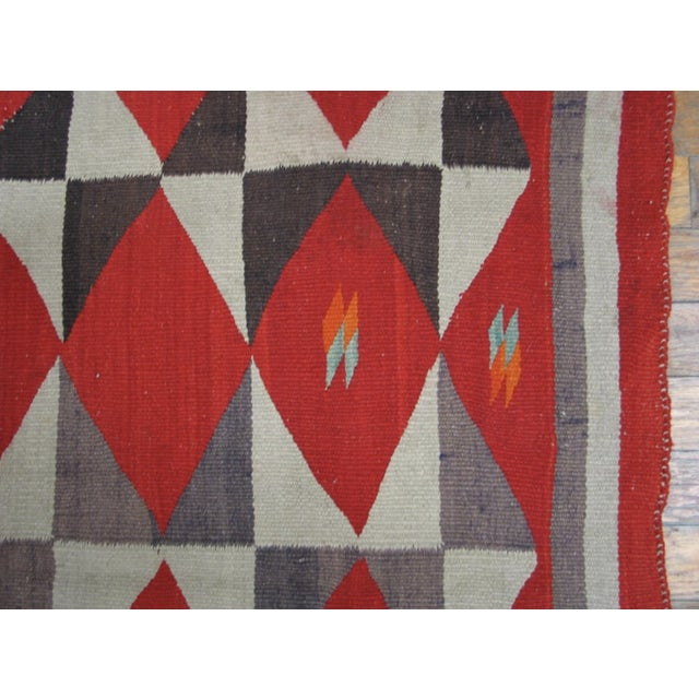 1900s Antique Navajo Style Rug For Sale - Image 4 of 6
