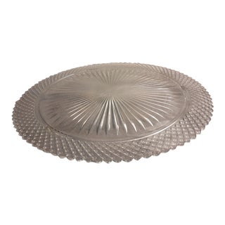 Art Deco Glass Cake Platter For Sale