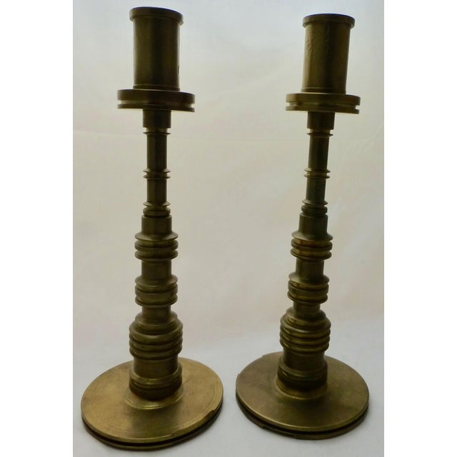 Decorating Dining Room Table With Brass Candlesticks