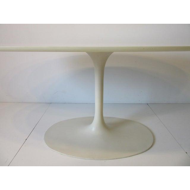 Metal Burke Tulip Desk / Dining Table for Burke International For Sale - Image 7 of 11