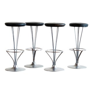 Set of Four Piet Hein Bar Stools, Denmark, 1960s For Sale