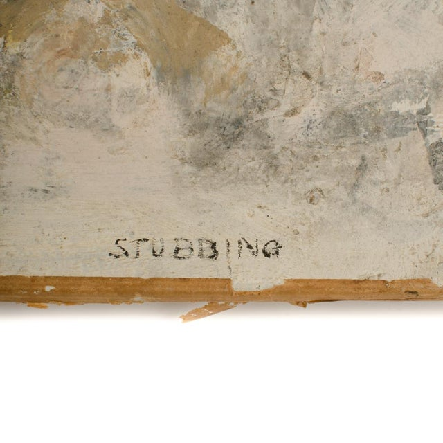 Mid 20th Century Abstract Oil Painting by Newton Haydn Stubbing For Sale In Philadelphia - Image 6 of 13