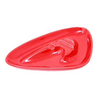 Mid Century Modern Red Boomerang Ashtray by Maddox of California Pottery For Sale