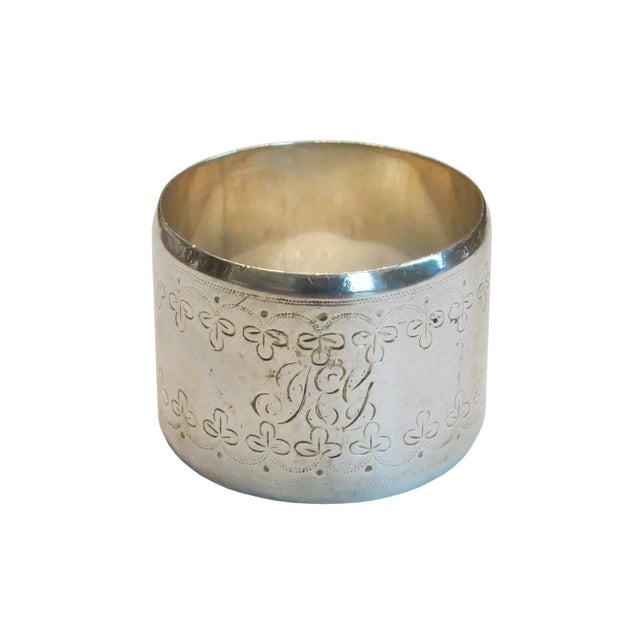 Traditional Mid 19th Century Sheffield England Sterling Napkin Ring For Sale - Image 3 of 3