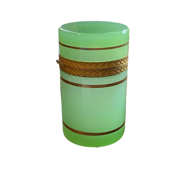 Mid 20th Century Early 20th Century French Green Opaline Casket For Sale - Image 5 of 7