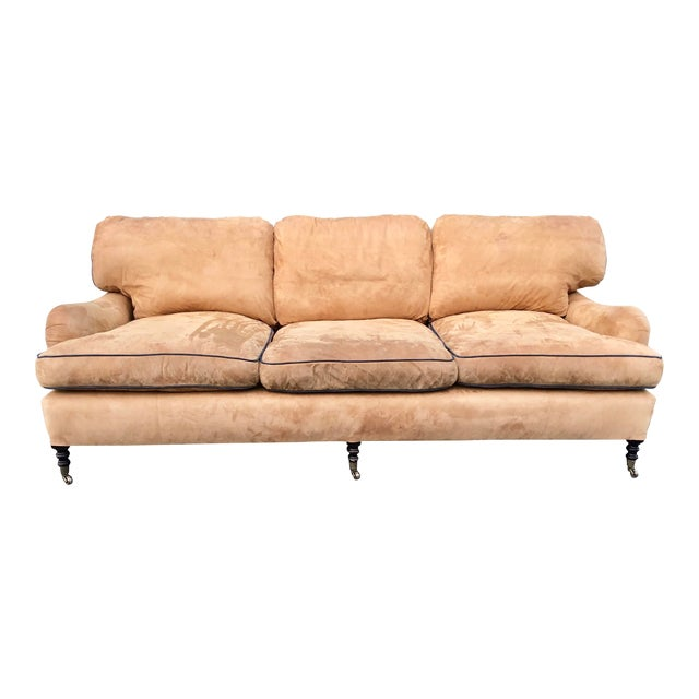 George Smith Loose Back Standard Arm Sofa For Sale