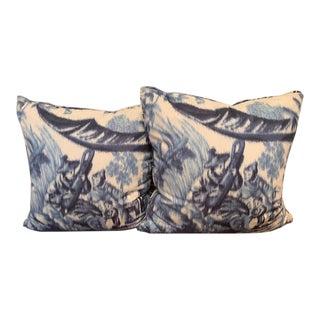 Schumchaer Pavillon Chinois Pillows - a Pair For Sale