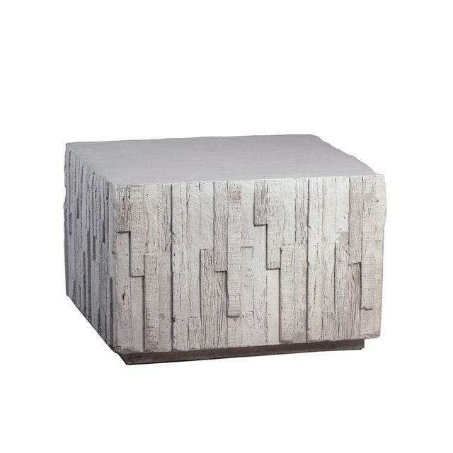Contemporary Outdoor Square Modern Accent Table For Sale - Image 3 of 3