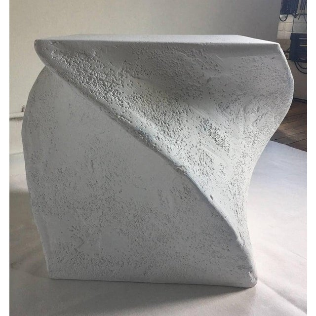 Mid-Century Modern 1970s Postmodern Sculptural Plaster Table For Sale - Image 3 of 7