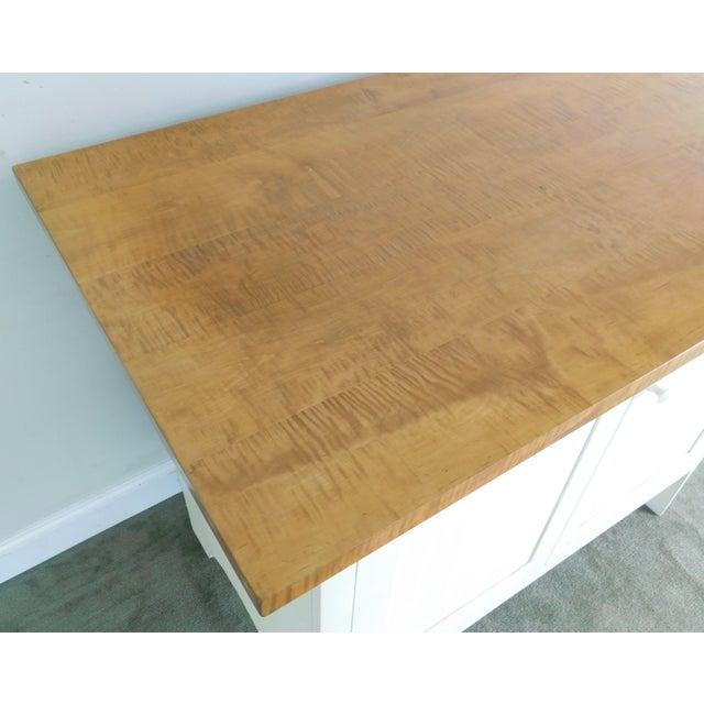 Country Style Custom Quality Painted Base Tiger Maple Top ...