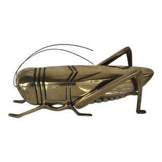 Mid-Century Modern Brass Cricket For Sale