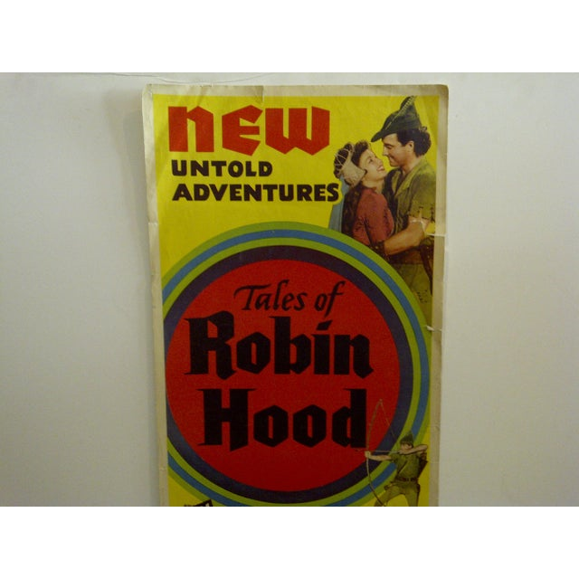 "Mid-Century Modern Vintage ""Tales of Robin Hood"" 1951 Movie Poster For Sale - Image 3 of 6"