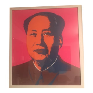 1970s Vintage Andy Warhol Mao, Pink and Orange Sunday B. Morning Silk Screen Print For Sale