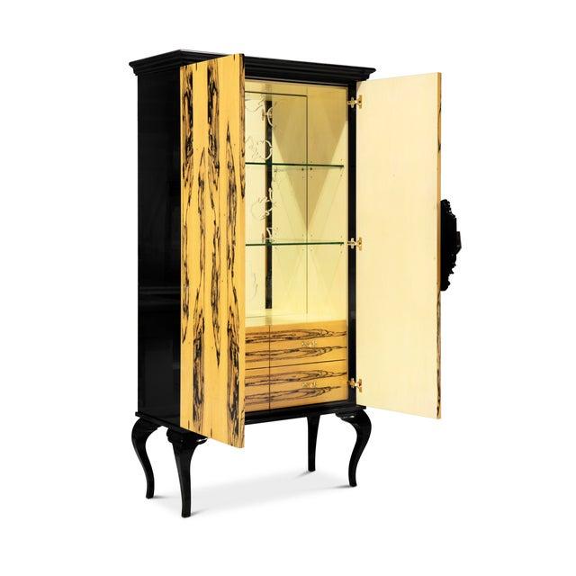 Modern Covet Paris Guggenheim Ebony Royal Cabinet For Sale - Image 3 of 5