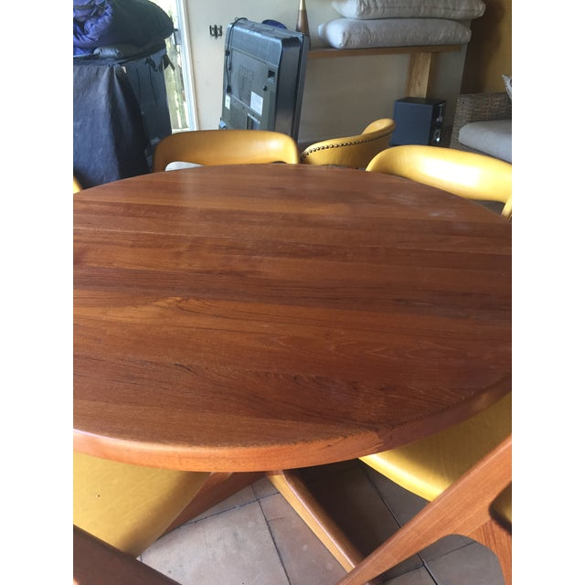 1960s Mid-Century Modern Teak Dining Table/Chairs Set For Sale - Image 5 of 11