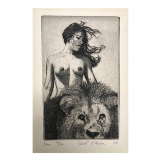 """Lion"" Female Nude Print by Robert Malone For Sale"